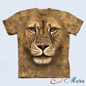 Футболка с африканским львом