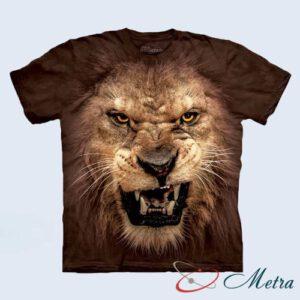 Футболка с рычащим львом