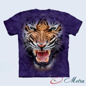 Футболка с рычащим тигром