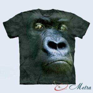Футболка с серебристой гориллой