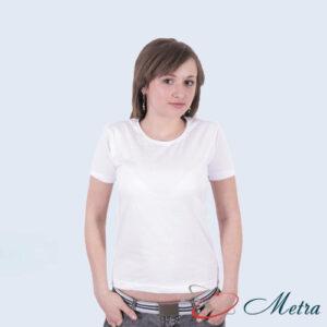 Женская футболка белая 100% хлопок