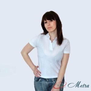 Женская футболка белая Поло