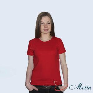 Женская футболка красная 100% хлопок