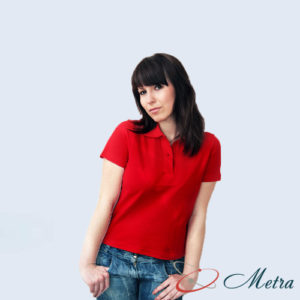 Женская футболка красная Поло