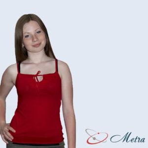 Женская футболка красная с бретельками