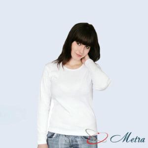 Женская футболка с длинным рукавом белая