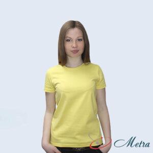 Женская футболка желтая