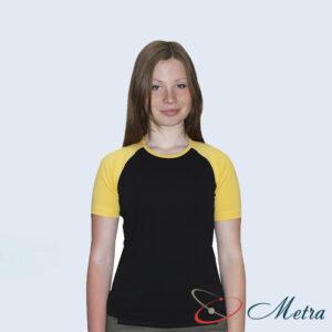 Женская футболка желто черная