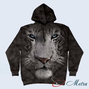 Толстовка с белым тигром