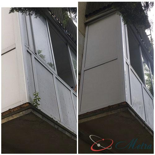 Мойка снаружи балкона