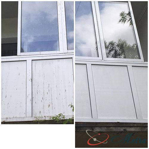 Мытье балкона снаружи