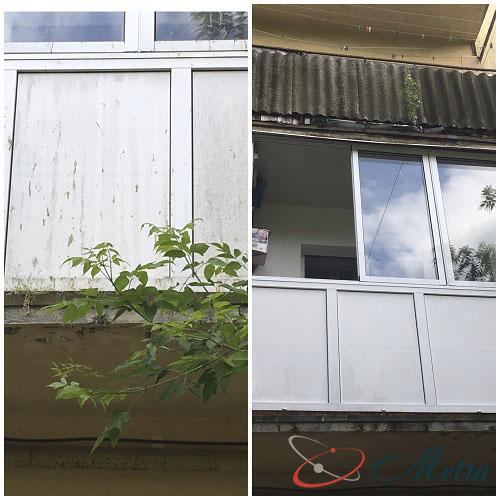 Мытье снаружи балкона