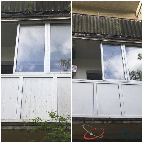 Помыть балкон снаружи