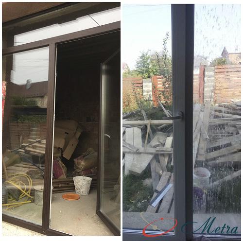 Грязные окна после ремонта