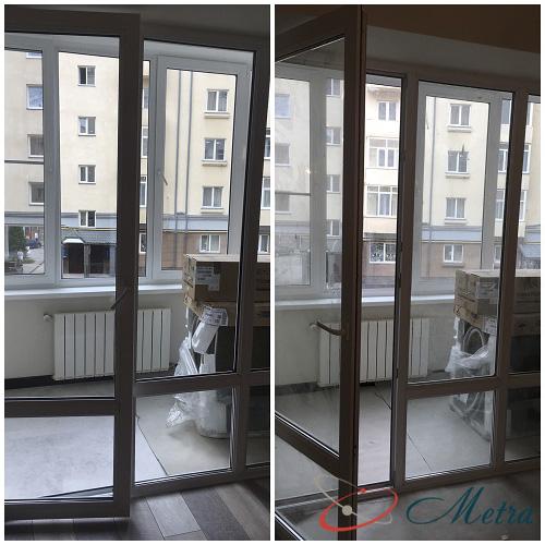 Помыть балконную дверь