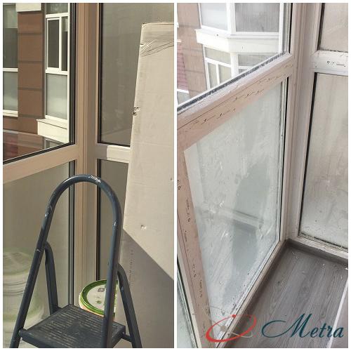 Помыть балкон после ремонта