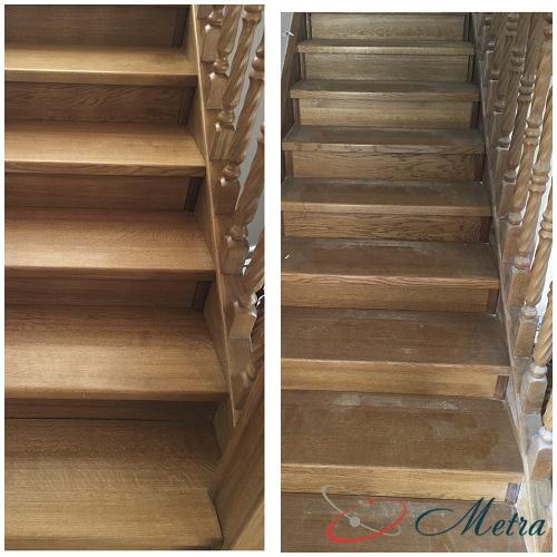 Помыть лестницу после ремонта
