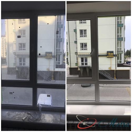 Помыть окна в квартире