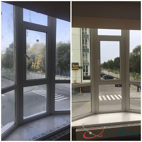 Помыть панорамное окно