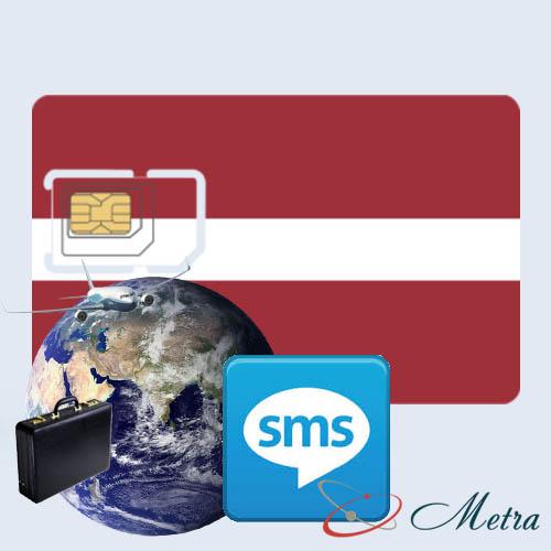 Латвийский номер для SMS