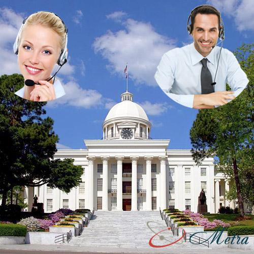 Outsourcing call center for Alabama