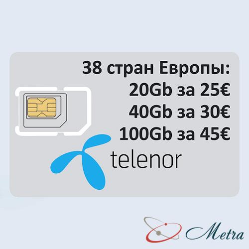 SIM карта Telenor